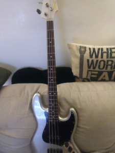 Squier classic Vibe bass and Ampeg amp!