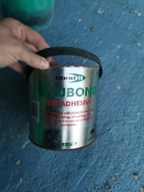 Roofing felt and adhesive 1m X 10m