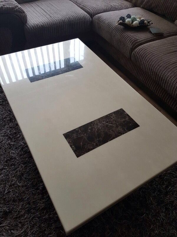 dfs solid marble coffee table and strasbourg lamp table   in hull