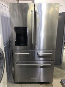 "36"" SS Fridge multi door water & ice Kitchenaid $2899"