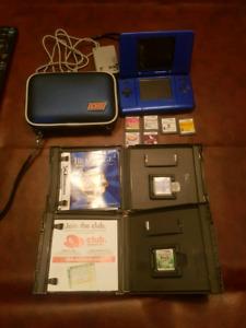 Nintendo DS Bleue av 8 jeux