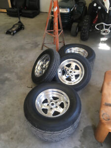 New price Drag radial wheel and tire package  like new !!!!