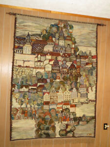 Tapis tissé mural décoratif du Polonais Piotr Graborski