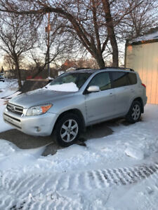 In Oxbow, SK 2008 Toyota RAV4 Limited SUV, sunroof cloth