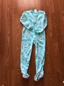 Brand new children place girl one-piece fleece sleeper size 4t
