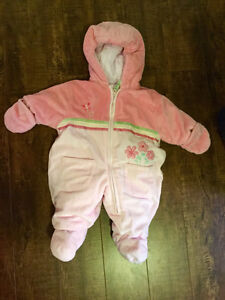 3-6month Girls Snowsuit from Carters