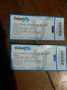 2 Jully Black tickets left call quick London Ontario image 1