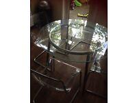 IKEA glass table 4 chairs