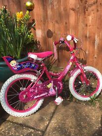Girls pink Raleigh Molli 16 inch