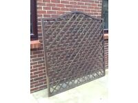 Trellis fencing, 6ft by 6ft