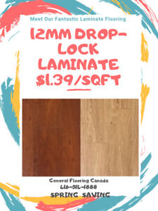 SPRING SALE: FOR 12MM LAMINATE STARTS FROM $1.39/SQFT ONLY !
