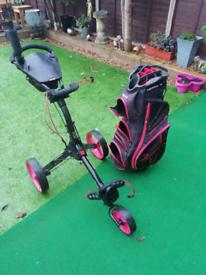 Big max golf trolley and bag
