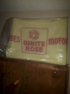 White rose wipe cloth