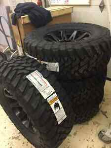 "BRAND NEW 40"" Toyo Open Country Tires + New KMC Black 20"" rims"