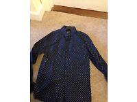 Navy polka dot shirt aged 11 Next