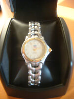 Mens /Woman Midsize Tag Heuer Watch Gold Dial Sapphire Crystal