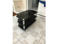 Black and chrome TV UNIT