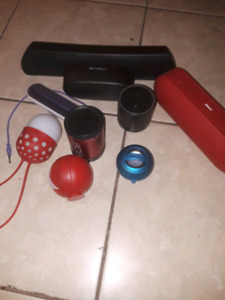 all working Bluetooth speakers and speakers.