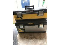 2 Stanley tool boxes