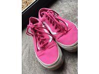 Pink Old school vans