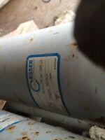"Concrete 5""pipe and 5"" hose"