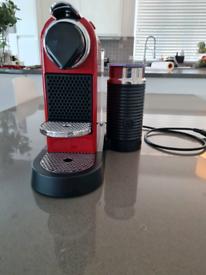 Citiz & milk red nespresso machine.