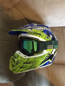 Very Mint HMK FLY Helmet and Goggles