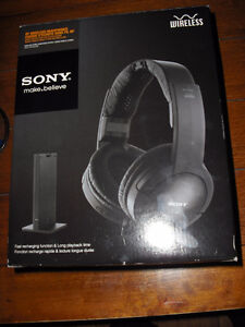 "SONY WIRELESS "" make believe "" HEADPHONE SYSTEM - NEW IN BOX"