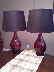 End Table Lamp Set of Two