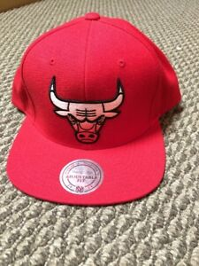 Chicago Bulls snap back hat- brand new- Mitchell & Ness