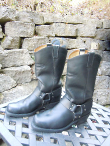 Canada West Bikers Black Boots