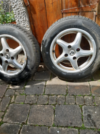 Wheel with new tyre