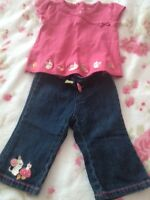 Gymboree 6-12 month jeans with top