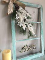 Gorgeous shabby chic Christmas Window