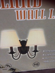 WALL (SCONCE) LIGHT WITH SHADES