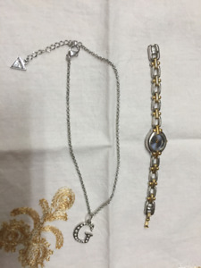 Fossil  Watch & Guess Necklace