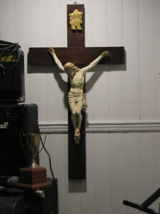 Large Antique Christ on the Cross