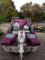 1982 Glastron TriHull with 60HP Johnson, tilt trailer and more!