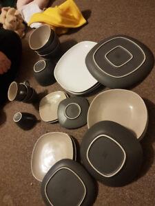 Grey Porcelain dishes