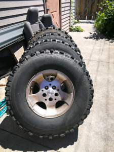 Jeep Alloy Rims and 31 inch Tires