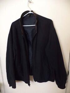 Claiborne Men's Black Jacket, Size L, Full Zip Front.
