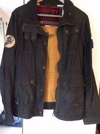 Superdry wax cotton coat limited.
