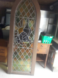 [ 2 ] LARGE STAIN GLASS WINDOWES,,,CHURCH STYLED