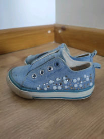 Baby girl mothercare trainers size 4.