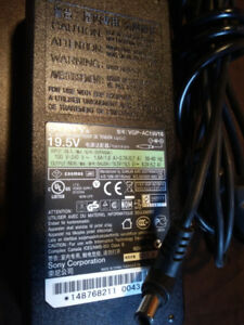 Sony VAIO laptop charger 19.5V 120W