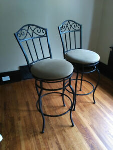 Bar Stools (2) with backs and swivel seats