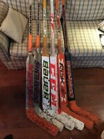 6 used Goalie sticks for $50