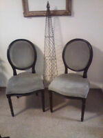 TWO ANTIQUE LOOKING CHAIRS