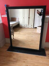 Mirror black frame £25