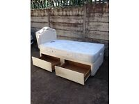 Used condition single divan bed with two drawer only £55 good bargain